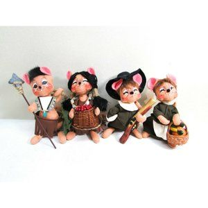 Annalee Thanksgiving Mouse Dolls Pilgrims NA